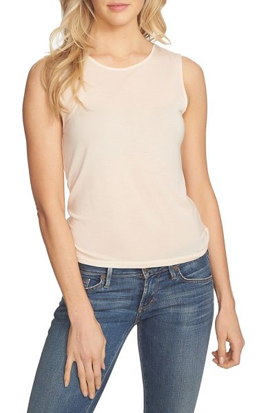 1.State wrap back tank in dawn blush - Cut from stretch-knit jersey, this slinky tank has an...