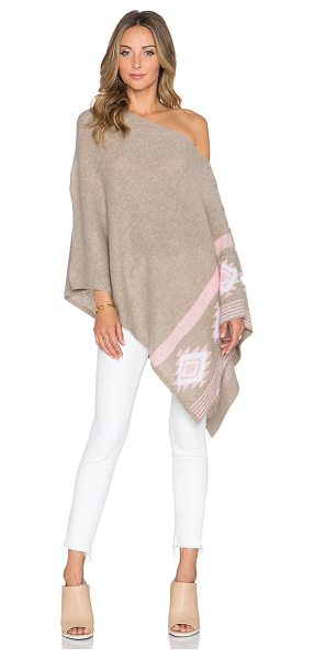 27 miles malibu Chumash mojave poncho in tan - 100% cashmere. Dry clean only. Button closures....