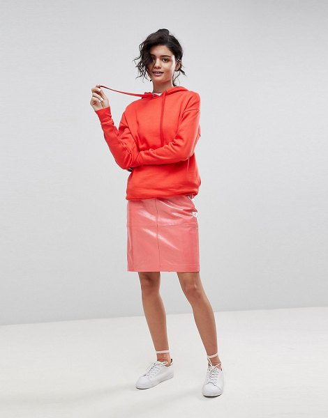 2Nd Day 2ndday patent leather pencil skirt in coral