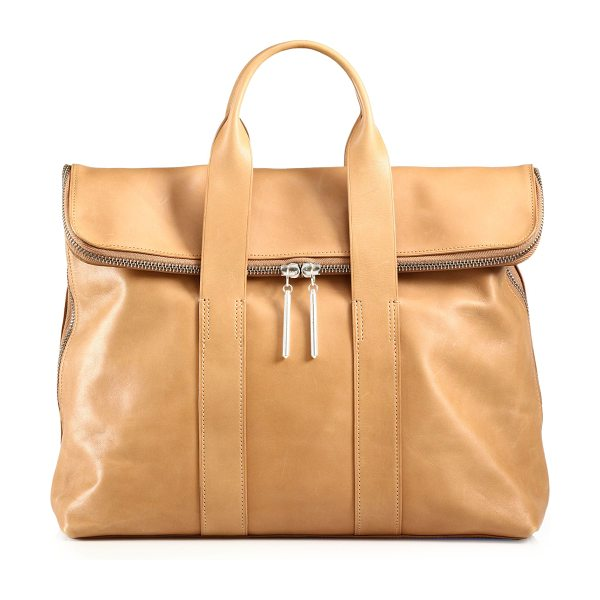 3.1 Phillip Lim 31 hour leather bag in nude - Perfect for travel or everyday, this beautifully...