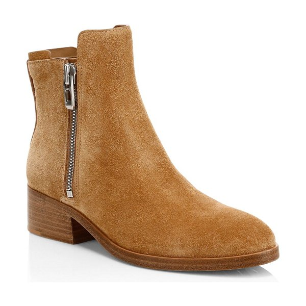 3.1 Phillip Lim alexa suede ankle boots in tan - These rustic suede boots are a versatile essential....