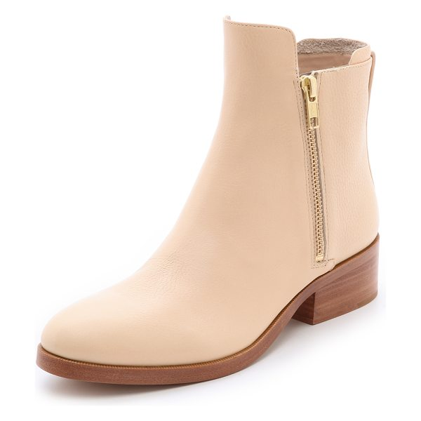 3.1 Phillip Lim Alexa zip booties in buff