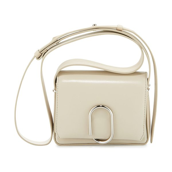 3.1 Phillip Lim Alix Flap Mini Crossbody Bag in chalk - 3.1 Phillip Lim smooth leather messenger bag with...