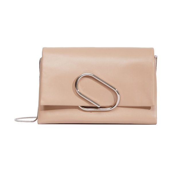 3.1 Phillip Lim Alix leather clutch in fawn - A modern, clean-lined clutch takes its cues from classic...