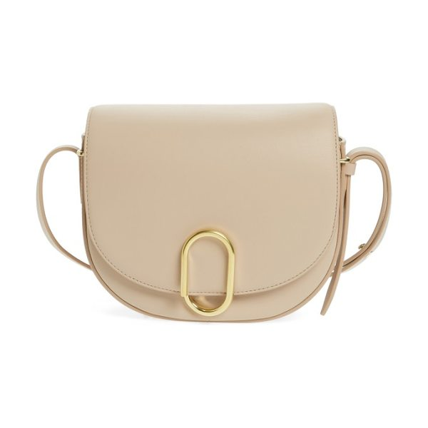3.1 Phillip Lim alix leather saddle bag in cashew/ gold