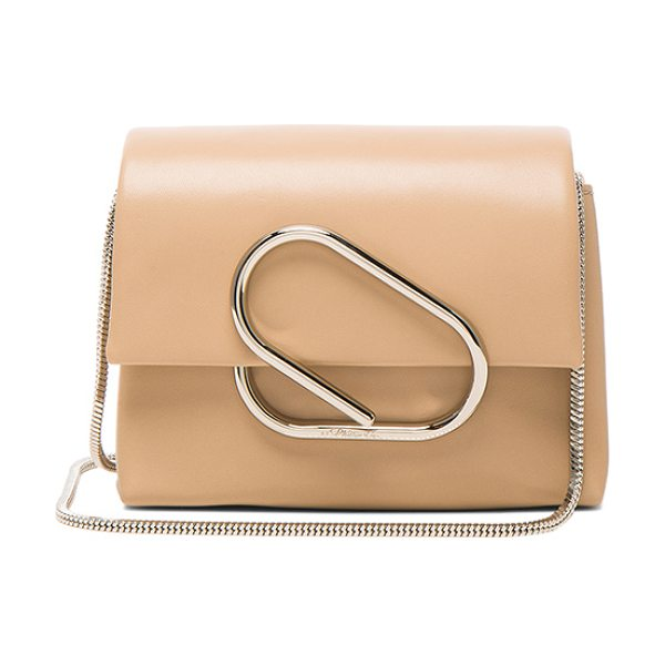 3.1 Phillip Lim Alix Micro Crossbody Bag in neutrals - Genuine leather with twill fabric lining and silver-tone...
