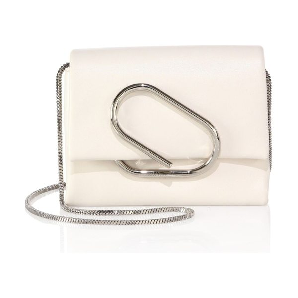 3.1 Phillip Lim alix micro leather crossbody bag in natural white - Compact crossbody bag with a front clip detail....
