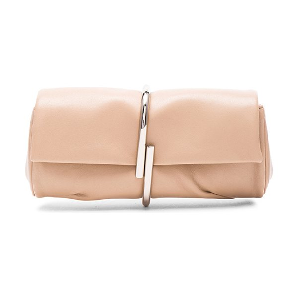 3.1 Phillip Lim Alix minaudiere in neutrals - Genuine leather with canvas lining and silver-tone...
