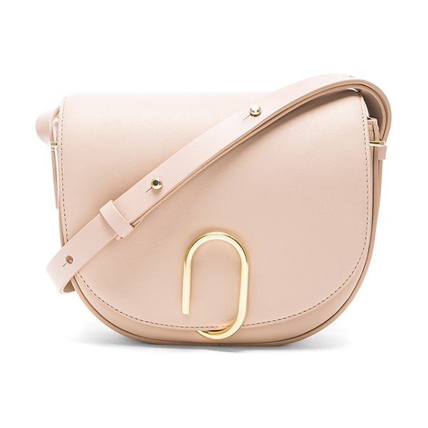 3.1 Phillip Lim Alix Saddle Crossbody Bag in neutrals - Genuine leather with canvas fabric lining and gold-tone...