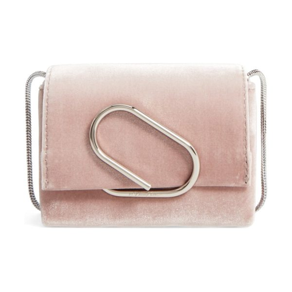 3.1 Phillip Lim alix velvet clutch in blush - Keep your must-haves close at hand with this velvet...