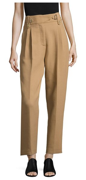 3.1 PHILLIP LIM belted double-crepe trousers - Straight-cut crepe trouser with belted high-waist. belt...