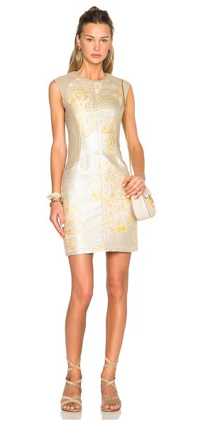 3.1 Phillip Lim Contoured Waist Dress in yellow,metallics - Self: 40% poly 29% linen 23% cotton 8% polyamide -...