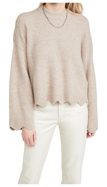 3.1 Phillip Lim crew neck sweater with scallops in taupe