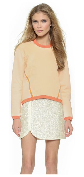 3.1 PHILLIP LIM Crop sweatshirt - This 3.1 Phillip Lim pullover is detailed with a quilted...