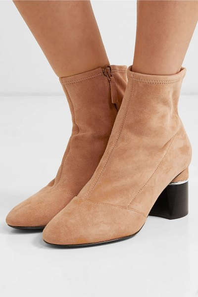 3.1 Phillip Lim drum suede ankle boots in beige