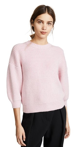3.1 Phillip Lim elbow length pullover in petal pink - This relaxed 3.1 Phillip Lim sweater has raised ribs and...