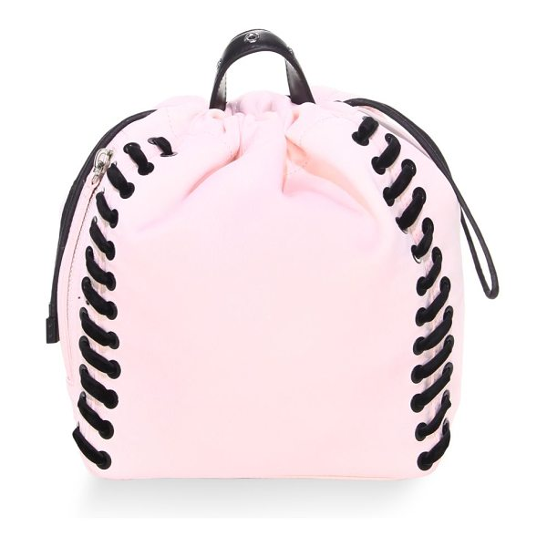 3.1 PHILLIP LIM go-go mini knapsack in petal - Drawstring knapsack with lace-up detail at sides. Top...