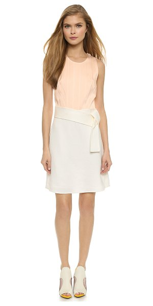 3.1 Phillip Lim Judo belt tank dress in blush - Tonal, stitched pinstripes detail the sateen bodice of...