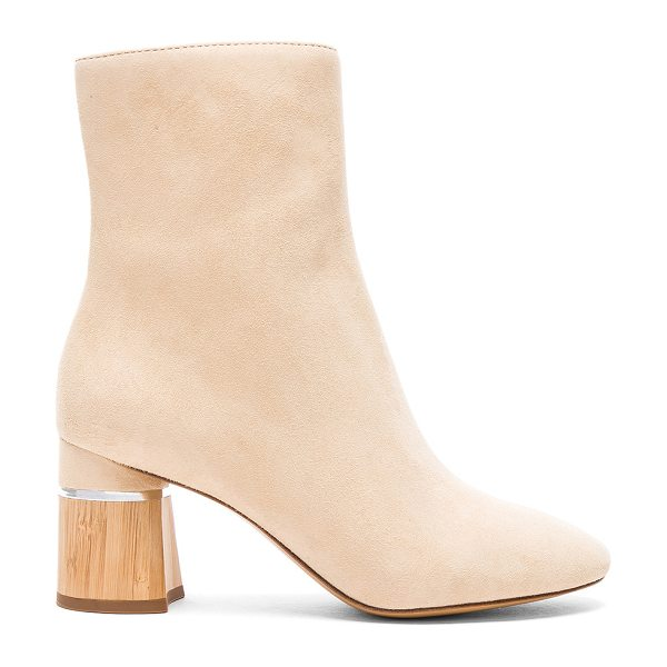 3.1 Phillip Lim Leather Drum Boots in neutrals - Suede upper with leather sole.  Made in China.  Shaft...