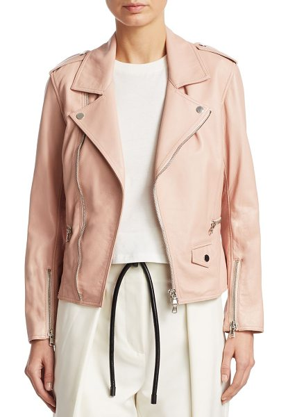 3.1 Phillip Lim leather moto jacket in blush