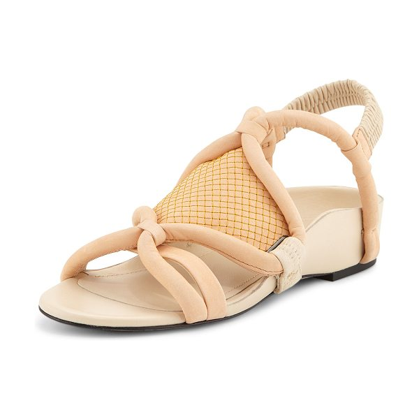 3.1 Phillip Lim Marquise Tubular Strappy Sandal in peach - 3.1 Phillip Lim sandal with tubular loop-straps....