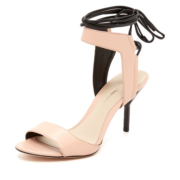 3.1 Phillip Lim Martini ankle lace sandals in light peach - Smooth leather composes these refined 3.1 Phillip Lim...