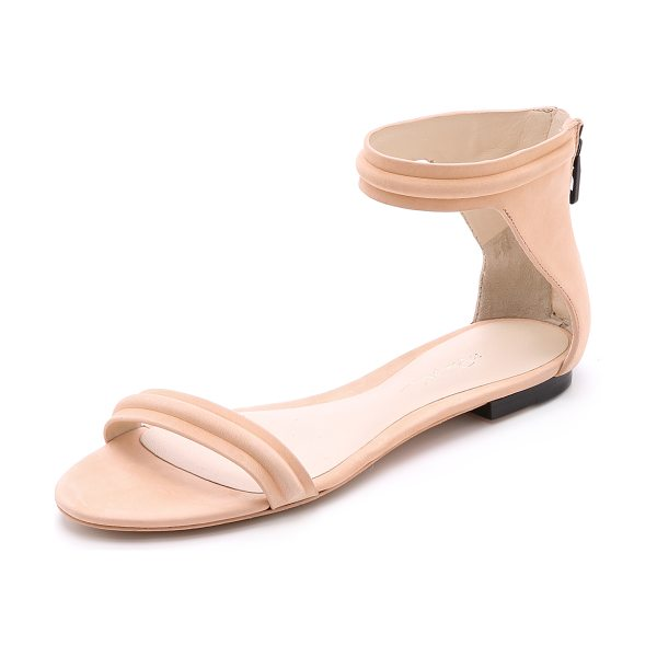 3.1 Phillip Lim Martini flat sandals in peach - Slim, flat 3.1 Phillip Lim sandals, crafted in luxe...