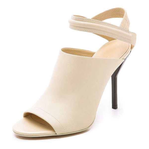 3.1 Phillip Lim Martini high heel sandals in vanilla - Open toe 3.1 Phillip Lim pumps styled with a ribbed...