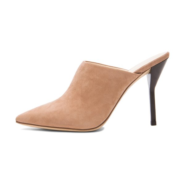 3.1 Phillip Lim Martini high heel suede mules in neutrals - Suede upper with leather sole.  Made in China.  Approx...