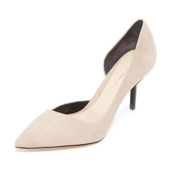 3.1 Phillip Lim martini pumps in fawn - Pointed-toe 3.1 Phillip Lim d'orsay pumps in luxe suede....
