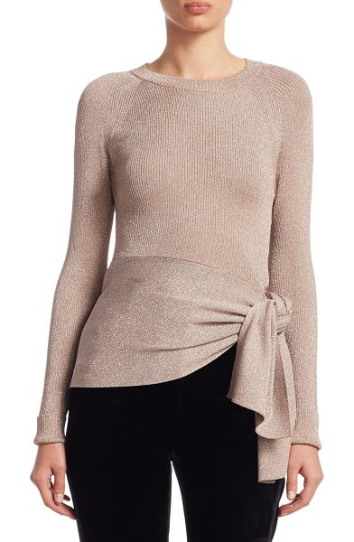 3.1 Phillip Lim metallic ribbed knit top in blush - Ribbed knit top in shimmering metallic finish....