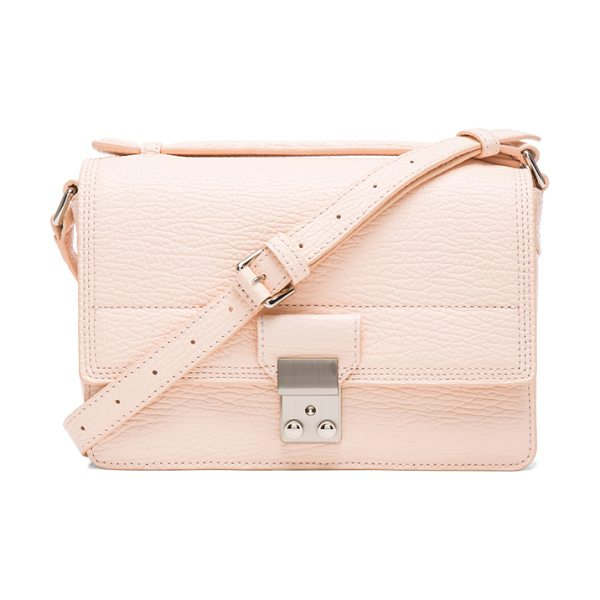 3.1 Phillip Lim Mini pashli messenger in pink - Pebbled leather with canvas fabric lining and...