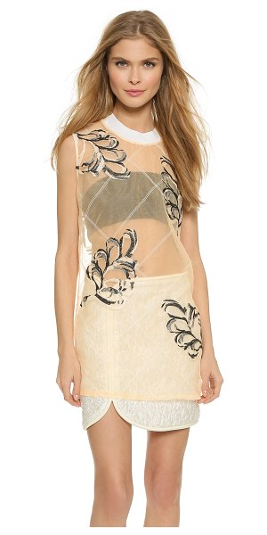 3.1 PHILLIP LIM Organza fern tank in whisper pink - Delicate embroidered vines give this sheer organza 3.1...
