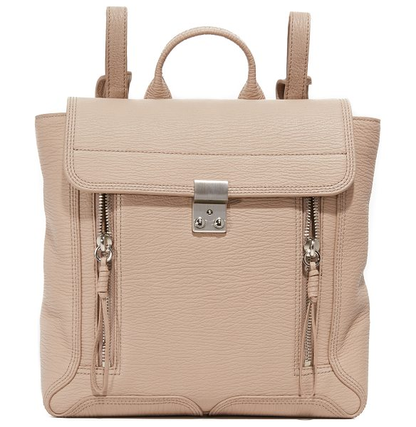 3.1 Phillip Lim Pashli backpack in khaki - A signature silhouette from 3.1 Phillip Lim. This ridged...