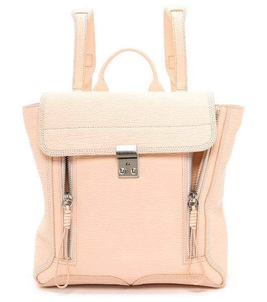 3.1 Phillip Lim Pashli backpack in white peach - A signature zippered style from 3.1 Phillip Lim. This...