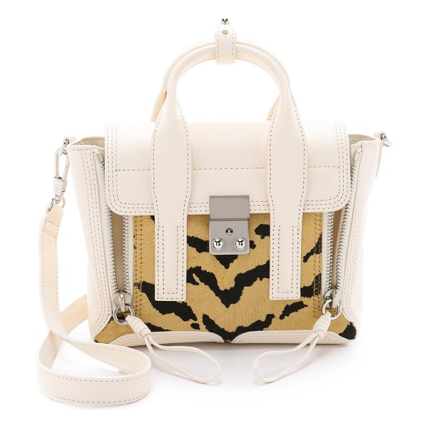 3.1 Phillip Lim Pashli haircalf mini satchel in natural/cream - The classic 3.1 Phillip Lim Pashli mini satchel,...