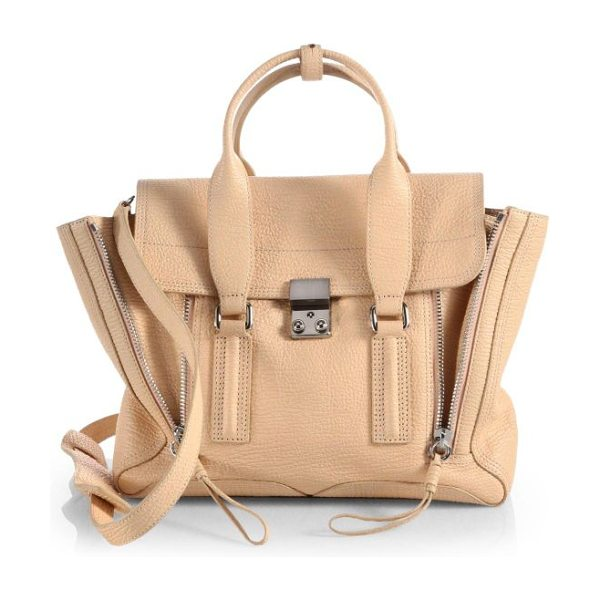 3.1 PHILLIP LIM Pashli medium satchel - A roomy style in lovely, textured leather accented with...