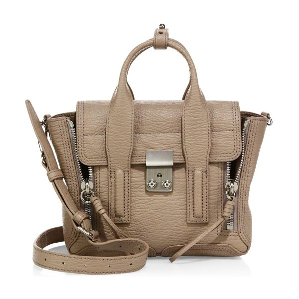 3.1 PHILLIP LIM pashli mini leather satchel - Cool, shrunken satchel with statement hardware. Dual top...