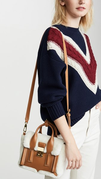 3.1 Phillip Lim pashli mini shearling satchel in natural