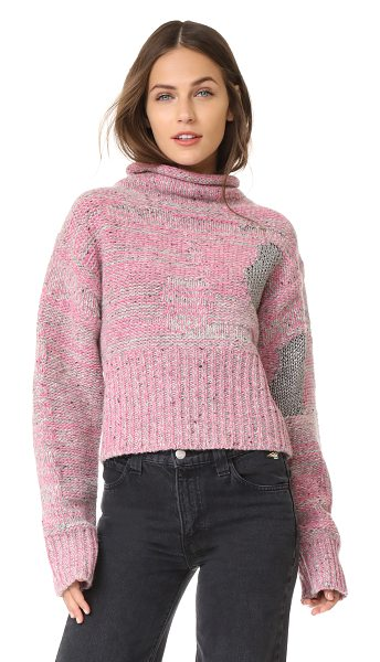 3.1 Phillip Lim plaited tweed cropped pullover in candy pink - This marled 3.1 Phillip Lim sweater has a cropped...