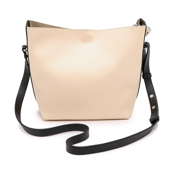 3.1 PHILLIP LIM Quill mini bucket bag in powder - This rich leather 3.1 Phillip Lim bucket bag has a chic,...