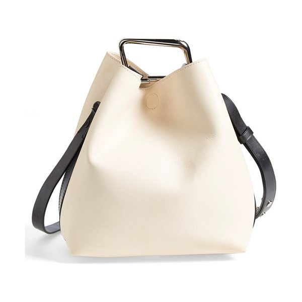 3.1 Phillip Lim Quill mini bucket bag in powder/ powder
