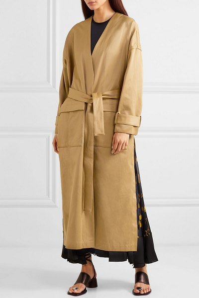 3.1 Phillip Lim satin trench coat in beige - When we say everybody's wearing trench coats this...