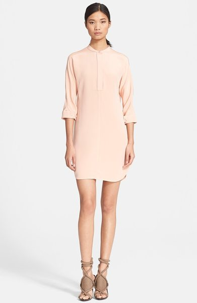 3.1 Phillip Lim silk shirtdress with judo stitch detail in peachy - Tonal topstitching inspired by the judogi graces the...