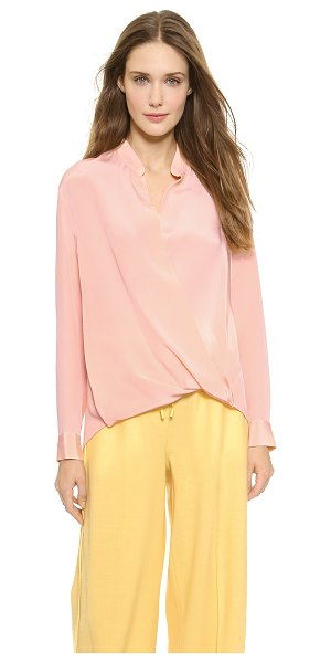 3.1 Phillip Lim Silk tuck drape blouse in peach puff - Rich double silk crepe composes this elegant, breezy 3.1...