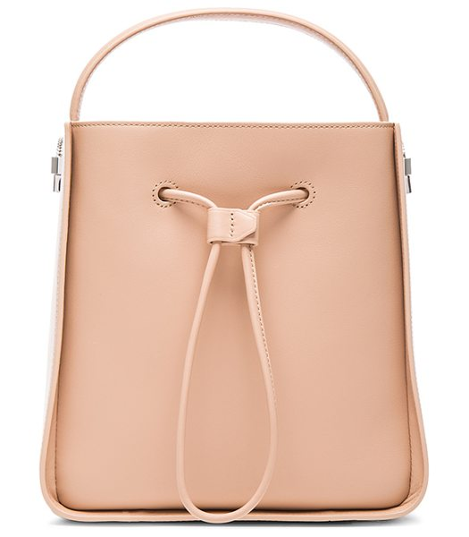 3.1 Phillip Lim Small soleil bucket bag in neutrals - Cowskin leather with canvas fabric lining and...