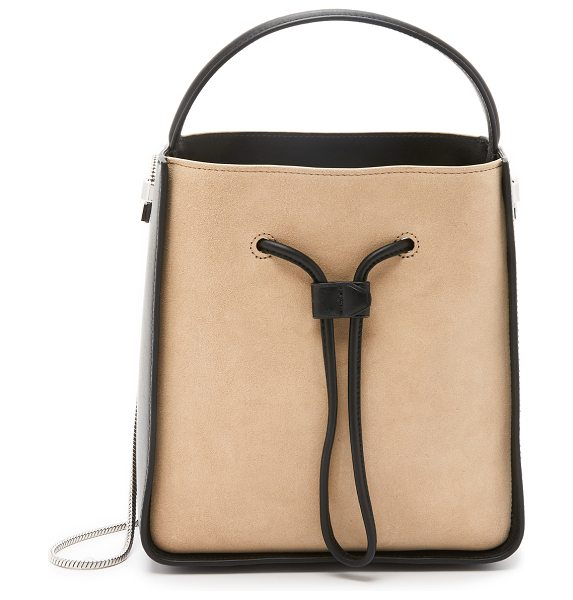 3.1 Phillip Lim Soleil small bucket bag in almond/black - A suede and leather 3.1 Phillip Lim bucket bag, crafted...