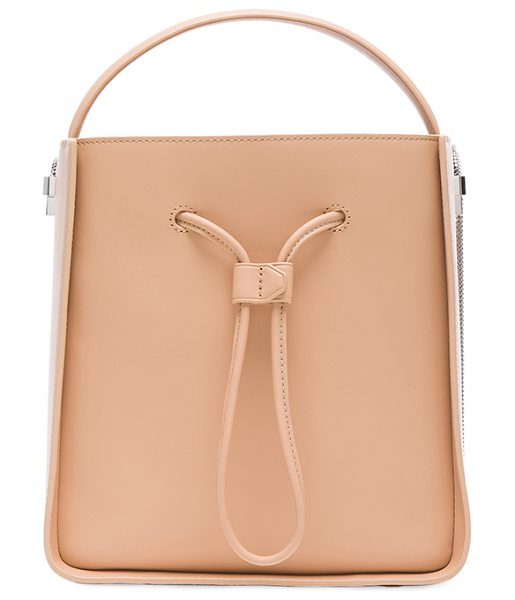 3.1 PHILLIP LIM Soleil Small Bucket Bag in neutrals - Genuine leather with twill lining and silver-tone...