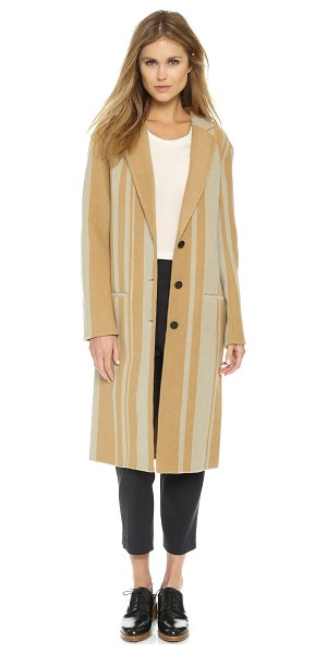 3.1 Phillip Lim Tailored oversize car coat in tan/glacier - A soft 3.1 Phillip Lim coat in a long, menswear inspired...