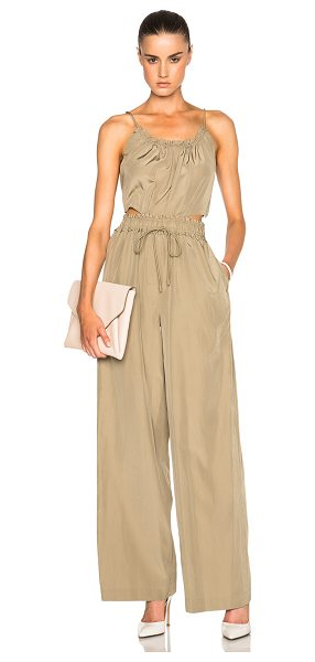 3.1 Phillip Lim Tank Jumpsuit in neutrals - 55% silk 45% cotton.  Made in China.  Hidden side zip...